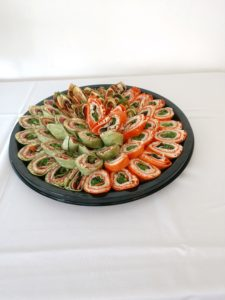 Food Display of wraps